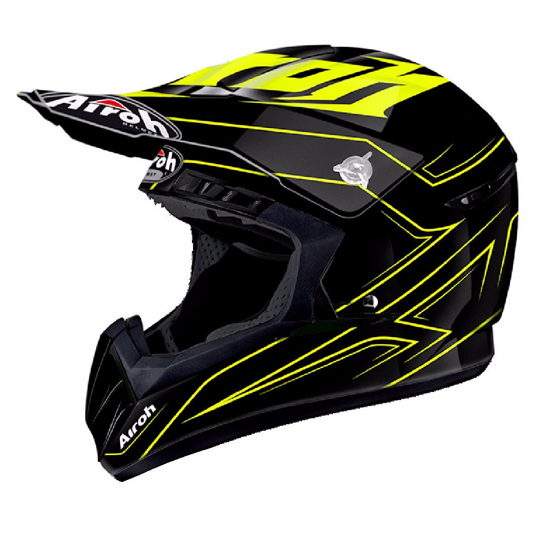 Casque cross Airoh SWITCH - SPACER  - YELLOW 2018
