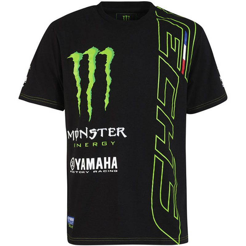 t shirt manches courtes tech3 monster custom 2 tech3 monster energy black green sportswear. Black Bedroom Furniture Sets. Home Design Ideas