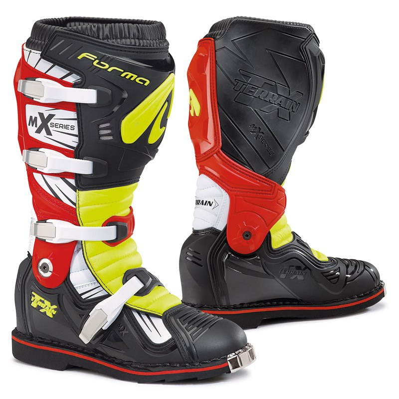 Bottes cross Forma TERRAIN TX BLACK YELLOW FLUO RED 2019