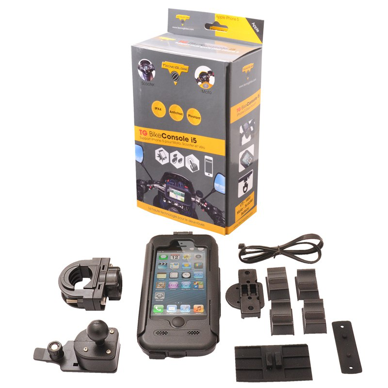 Kit Mains-libres Tecno Globe Bike Console Iphone 5 - Recharge Possible