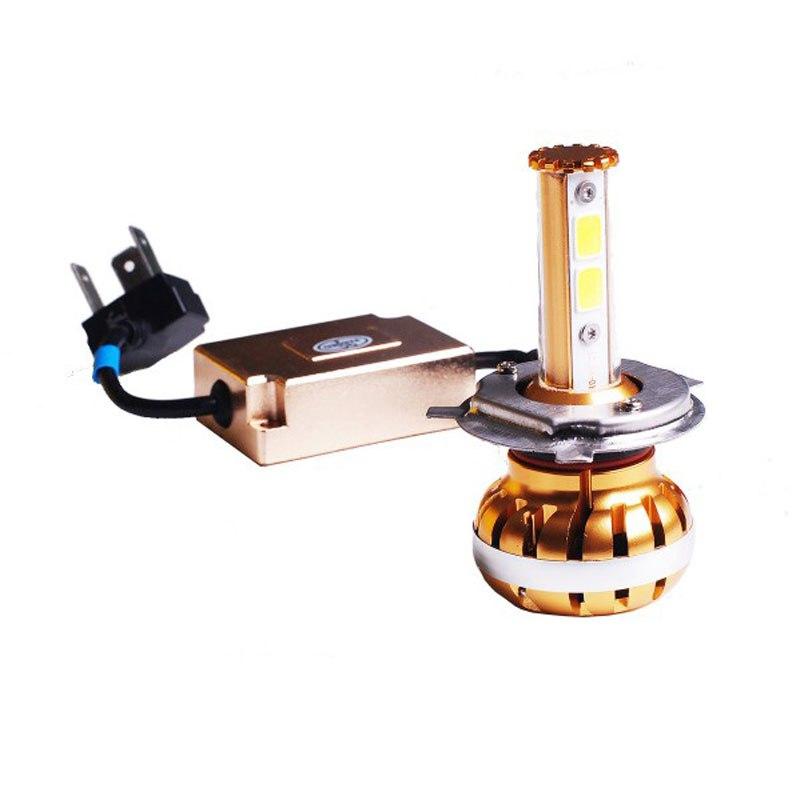 Ampoule tecno globe tg feu a led gold h4 eclairage et - Ampoule h4 led ...