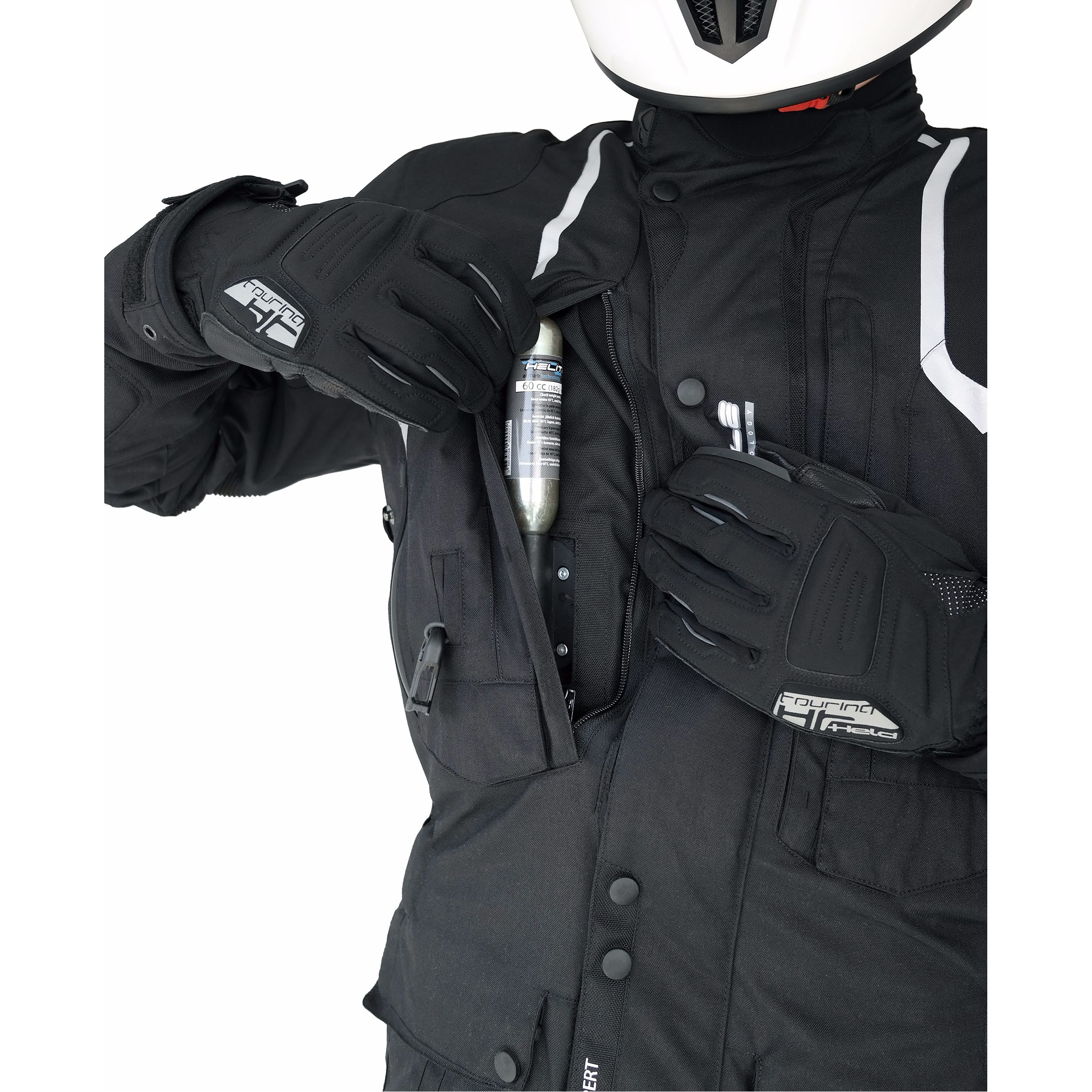 veste airbag helite touring 2 blouson et veste. Black Bedroom Furniture Sets. Home Design Ideas