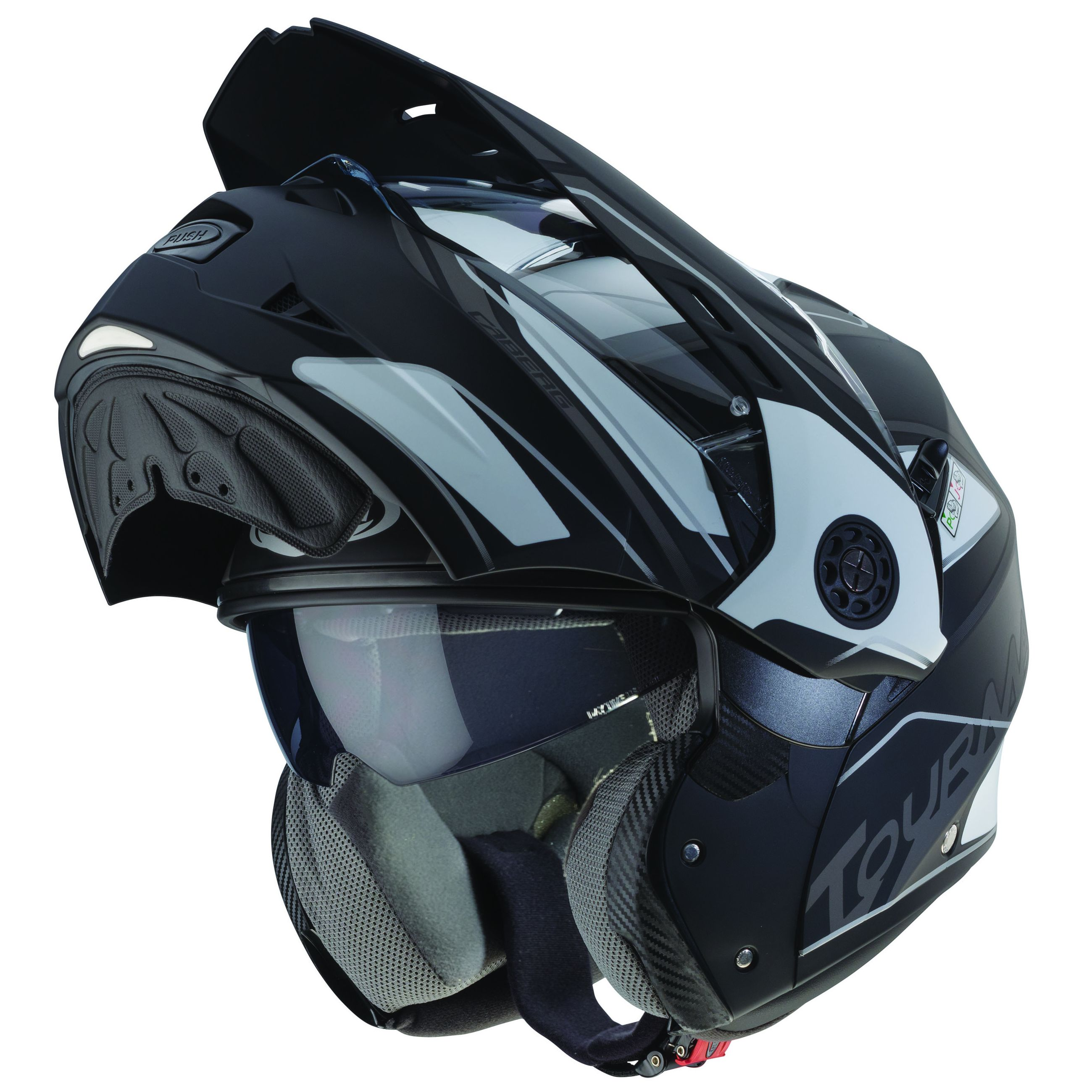 Casque Caberg Tourmax mat noir enduro motard touring moto