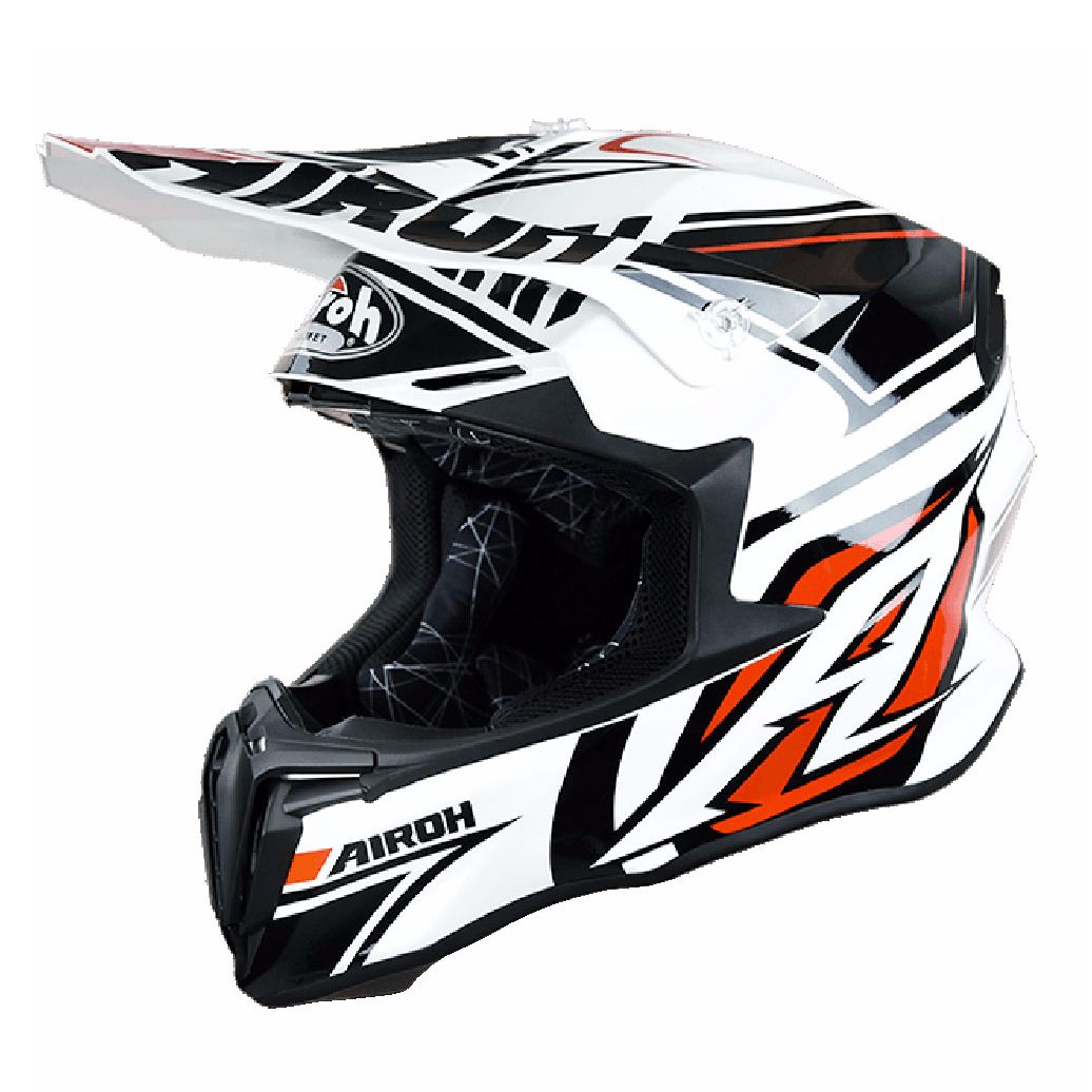 Casque cross Airoh destockage TWIST  - AVANGER  - WHITE 2017