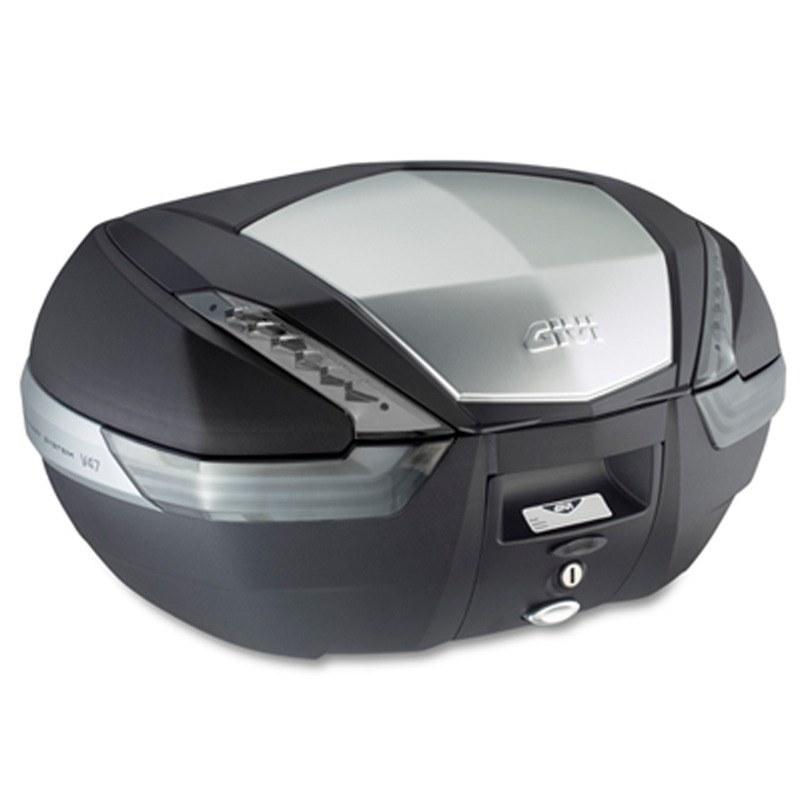 top case givi monokey v47 tech reflecteur fume bagagerie scooter. Black Bedroom Furniture Sets. Home Design Ideas
