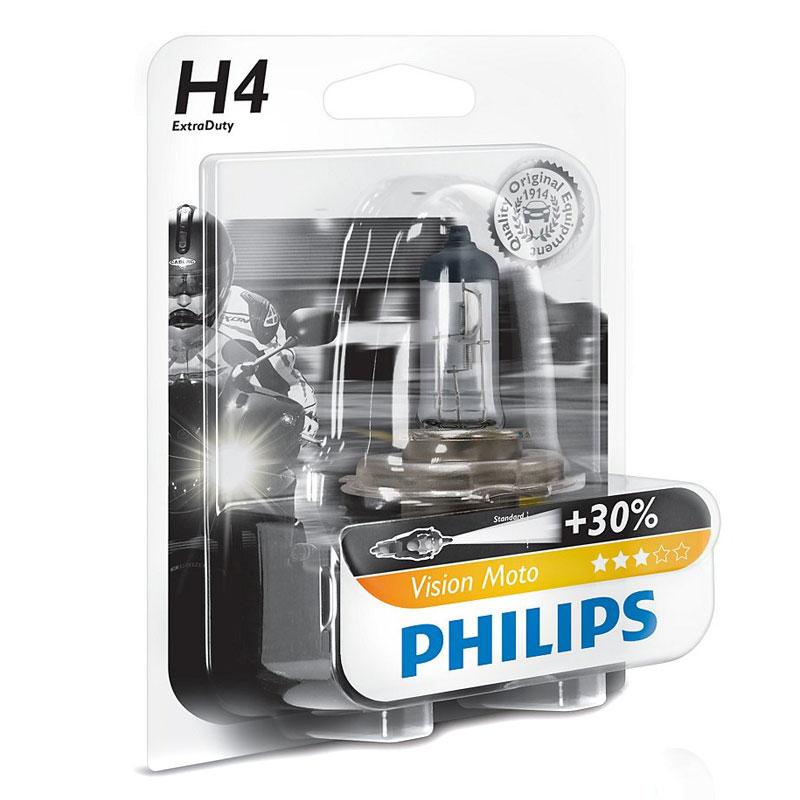 ampoule philips vision moto h4 12v 60 55w p43t 38 eclairage et signalisation. Black Bedroom Furniture Sets. Home Design Ideas