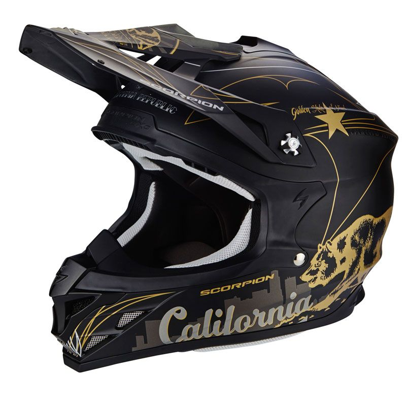 Casque Cross Scorpion Exo Vx-15 Evo Air - Goldenstate