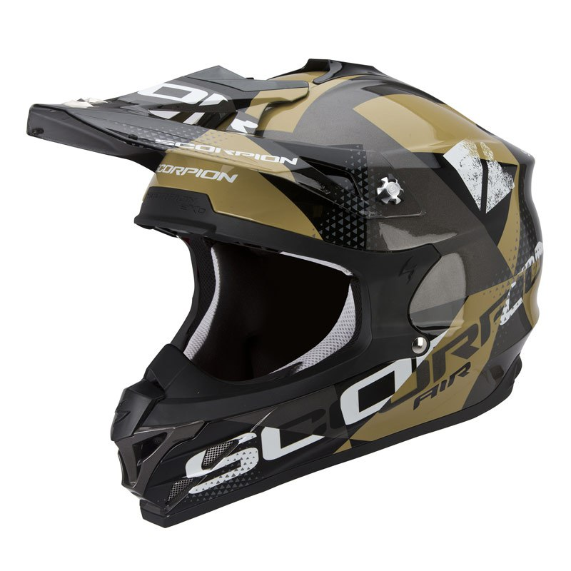Casque Cross Scorpion Exo Vx-15 Evo Air - Akra Gris Noir