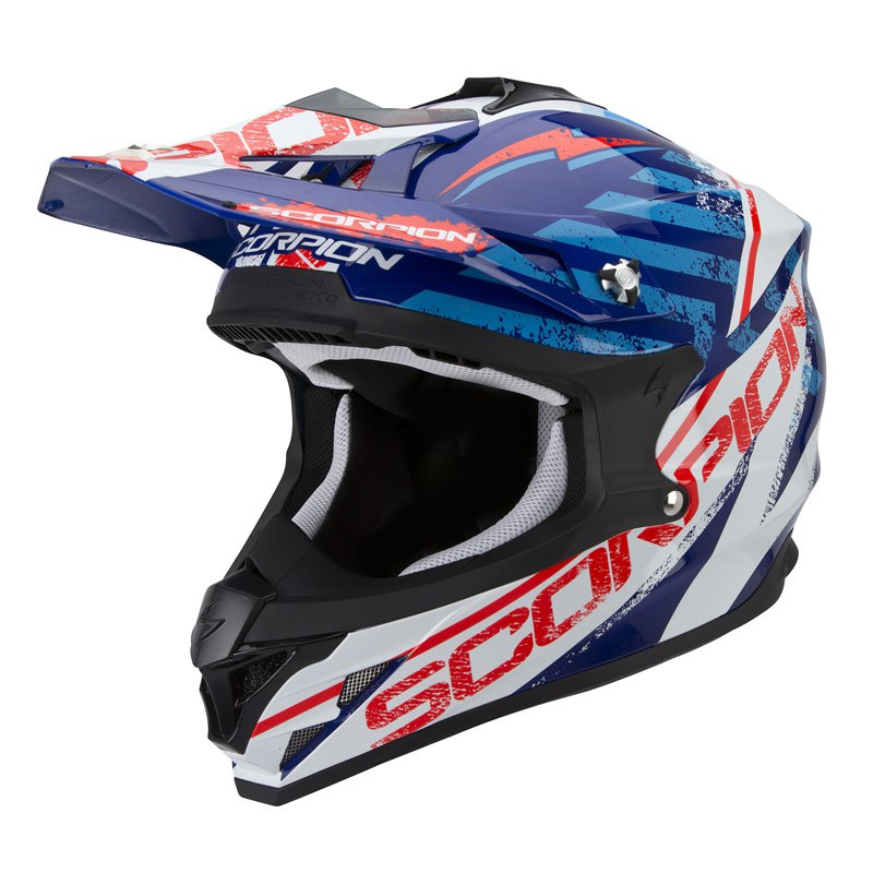 Casque Cross Scorpion Exo Vx-15 Evo Air - Gamma Bleu Blanc