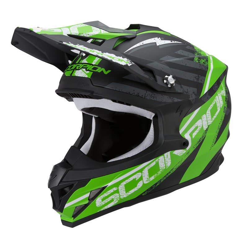 Casque Cross Scorpion Exo Vx-15 Evo Air - Gamma Noir Vert