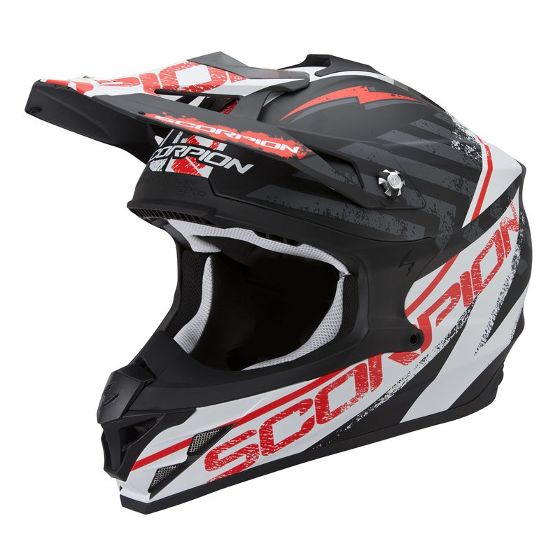 Casque Cross Scorpion Exo Vx-15 Evo Air - Gamma Noir Blanc Rouge