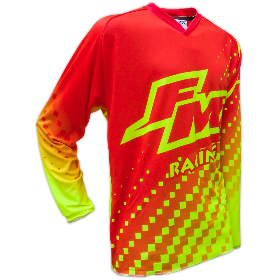 Maillot cross FM Racing HERO 2 X25 RED / YELLOW ENFANT