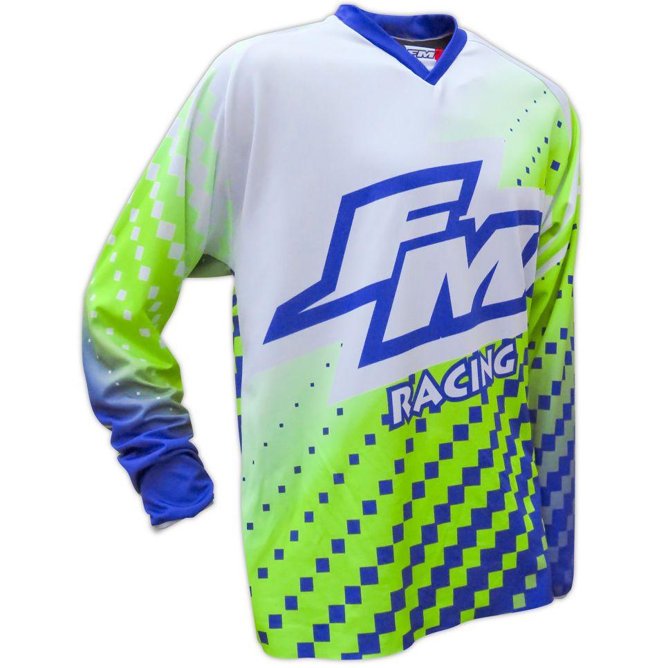 Maillot cross FM Racing POWER X25 GREEN / BLUE 2018