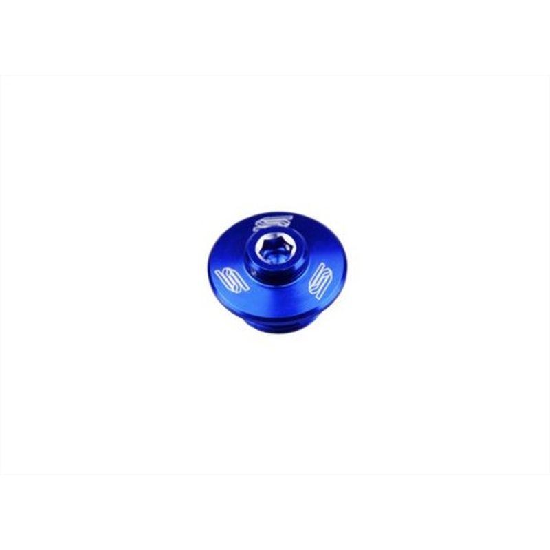 Bouchon De Carter D'huile Scar Anodisé Bleu