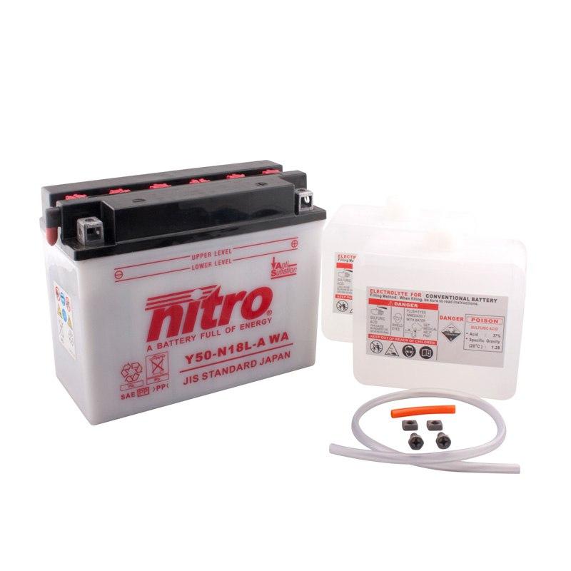 Batterie Nitro Y50-n18l-a Ouvert Avec Pack Acide Type Acide