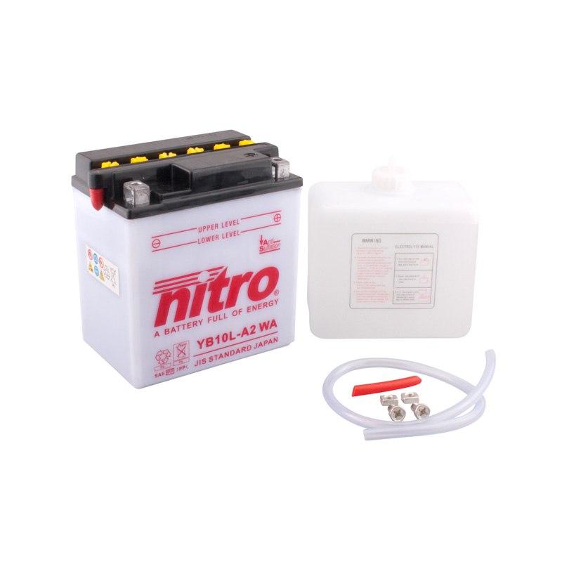 batterie nitro yb10l a2 ouvert avec pack acide type acide batteries. Black Bedroom Furniture Sets. Home Design Ideas