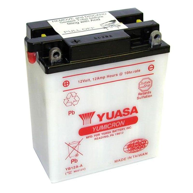 batterie yuasa yb12a a ouvert sans acide type acide batteries. Black Bedroom Furniture Sets. Home Design Ideas