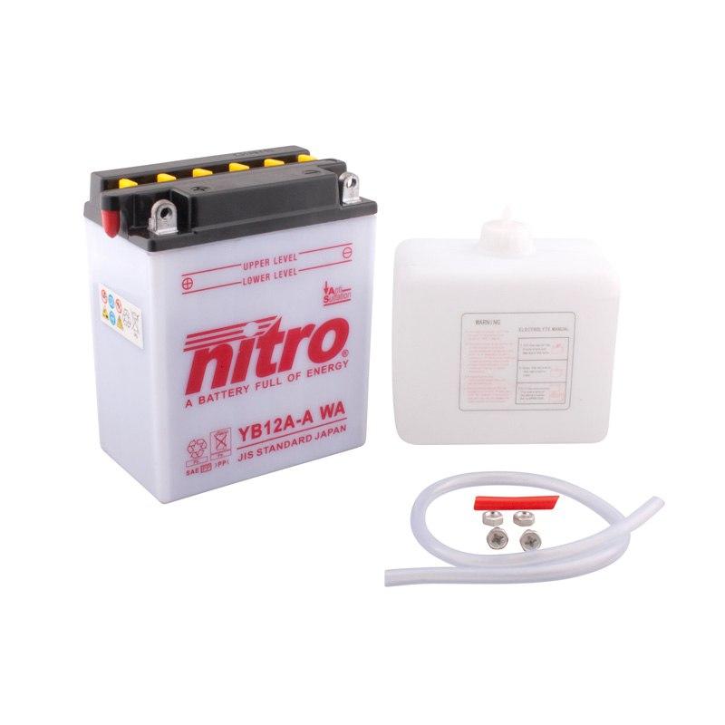 batterie nitro yb12a a ouvert avec pack acide type acide batteries. Black Bedroom Furniture Sets. Home Design Ideas