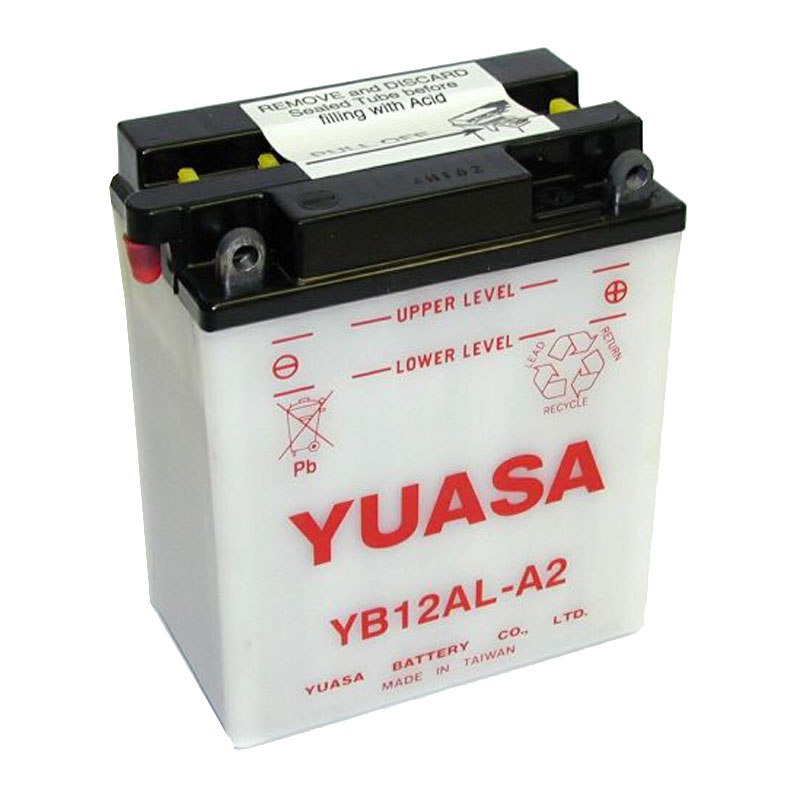 batterie yuasa yb12al a2 ouvert sans acide type acide batteries. Black Bedroom Furniture Sets. Home Design Ideas