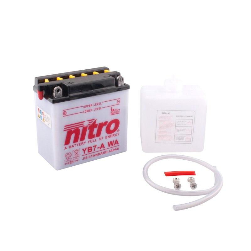 Batterie Nitro Yb7-a Ouvert Avec Pack Acide Type Acide