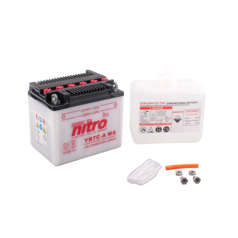 Batterie Nitro Yb7c-a Ouvert Avec Pack Acide Type Acide