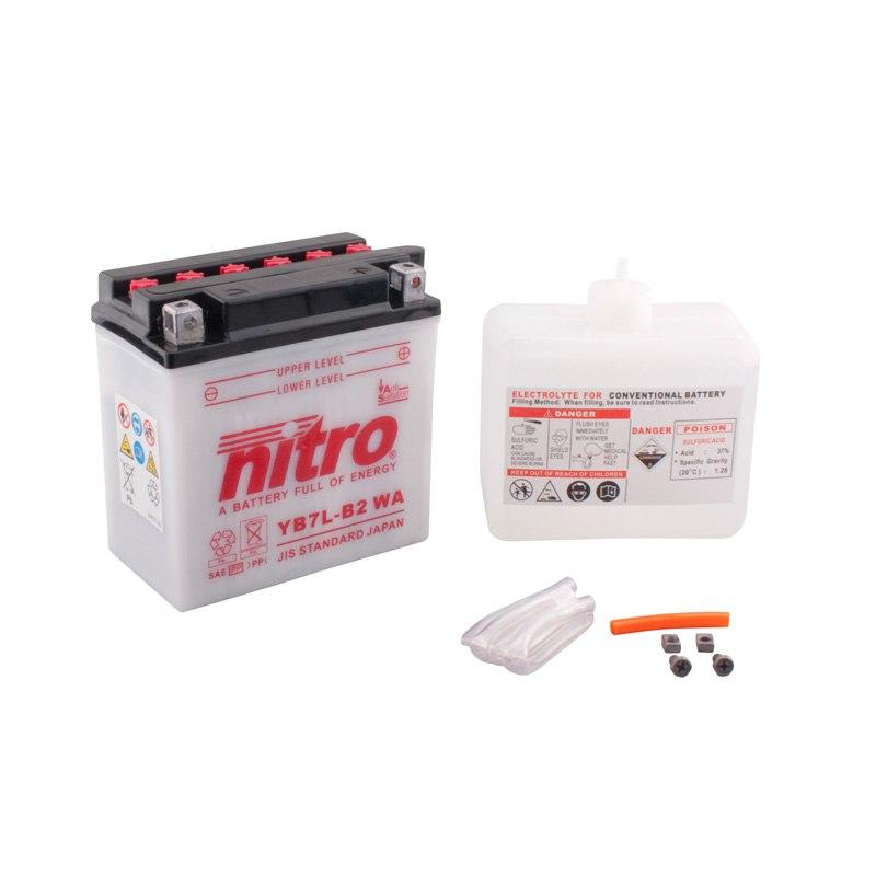 Batterie Nitro Yb7l-b2 Ouvert Avec Pack Acide Type Acide