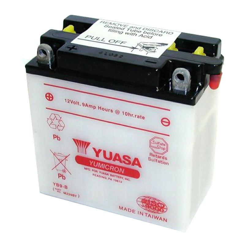batterie yuasa yb9 b ouvert sans acide type acide batteries. Black Bedroom Furniture Sets. Home Design Ideas