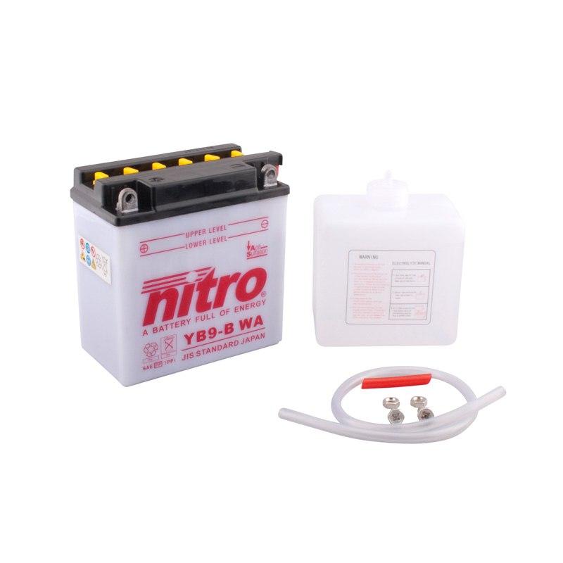 Batterie Nitro Yb9-b Ouvert Avec Pack Acide Type Acide