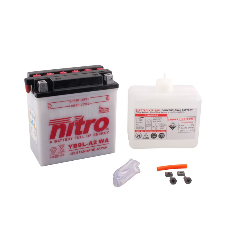 Batterie Nitro Yb9l-a2 Ouvert Avec Pack Acide Type Acide