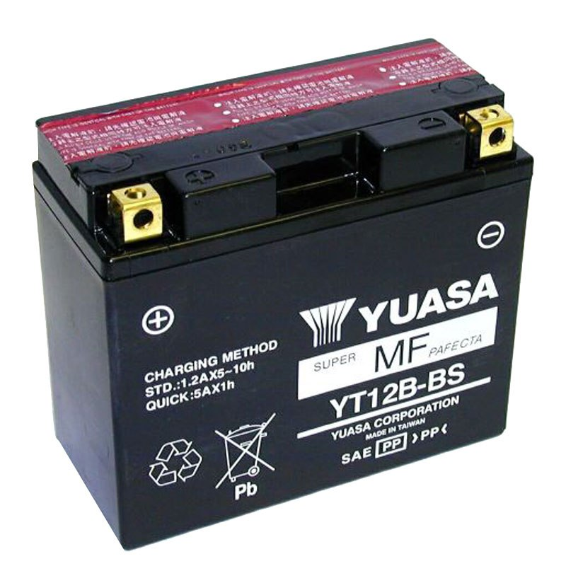 batterie yuasa yt12b bs agm ouvert avec pack acide type acide batteries. Black Bedroom Furniture Sets. Home Design Ideas