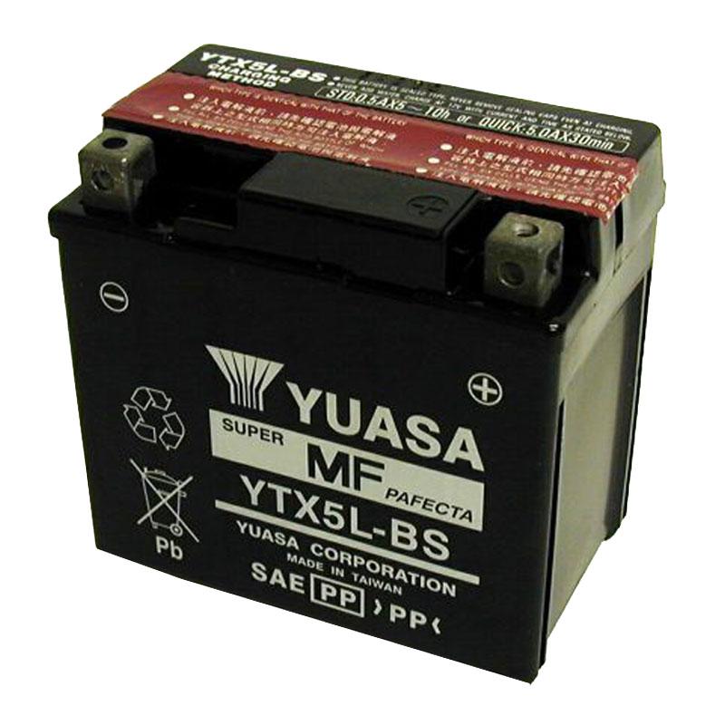 batterie yuasa ytx5l bs agm ouvert avec pack acide type acide batteries. Black Bedroom Furniture Sets. Home Design Ideas