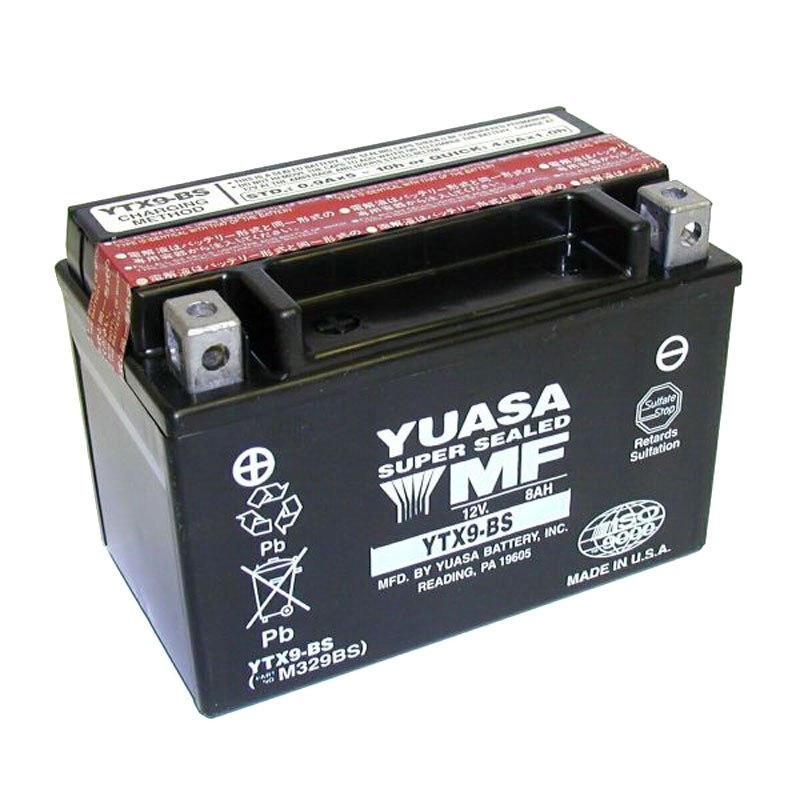 batterie yuasa ytx9 bs agm ouvert avec pack acide type acide entretien. Black Bedroom Furniture Sets. Home Design Ideas