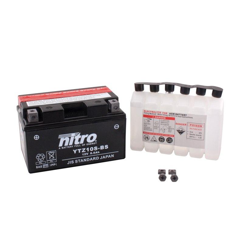 Batterie Nitro Ytz10s-bs Ouverte Avec Pack Acide Type Acide